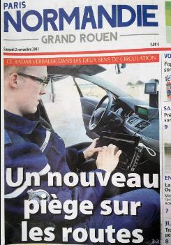 Le journal Paris-Normandie admet que le radar est un piège et non un outil pour la sécurité routière comme les préfectures ou les associations subventionnées le disent/